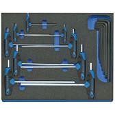 Gedore 2016540 Hexagon Allen key set in 2/4 CT tool module, 17 pieces 2005 CT2-DT 42