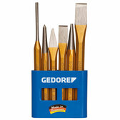 Gedore 8725200 Chisel and punch set 6 pcs in plastic holder 106