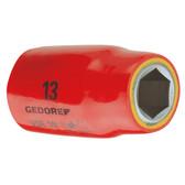 """Gedore 6123400 VDE Socket 1/2"""" 22 mm VDE 19 22"""