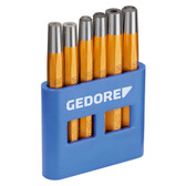 Gedore 8773600 Set of rivetting setters and snap dies 6 pieces 125 B