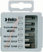 "FELO 31410 Profi Bit Box 6 Bits x 2"" - Slotted"