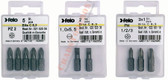 "FELO 10300 Torx T9 x 1"" Bits on 1/4"" stock - 2 per pkg"