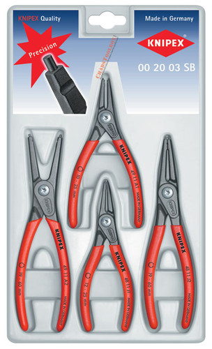 0020 03SB  Knipex Circlip Plier 4 pc Set