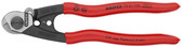 95 61 190 Knipex 7.5 inch WIRE ROPE CUTTERS with 2 crimp dies NEW Forged, Made in Germany