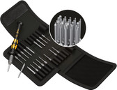 WERA 05073671001 KRAFTFORM KOMPAKT MICRO-SET ESD/20 SB BIT SET WITH HANDLE AND INTER-CHANGEABLE BLADES