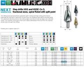 RUKO 101707T Step Drill TIN Size 7 (3/8-1/2)