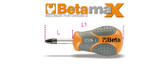 BETA 012990024 1299 N/PZ2-SCREWDRIVERS PZ EXTRA SHORT 1299 N/PZ2