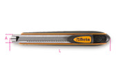 BETA 017700050 1770 BM-UTILITY KNIFE 9 MM, 6 BLADES 1770 BM