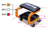 BETA 022520001 2252 O-SEAT WITH CASTORS ORANGE 2252 O