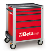 BETA 024002053 C24S 5/R-MOBILE ROLLER CAB 5 DRAWERS RED C24S 5/R