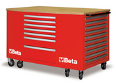 BETA 031000283 C31-R-MOBILE WORKSTATION 28 DRAWERS RED