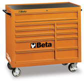 BETA 038000001 C38O-MOBILE ROLLER CAB 11 DRAWERS ORANGE