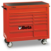BETA 038000002 C38R-MOBILE ROLLER CAB 11 DRAWERS RED