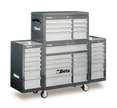 BETA 038000203 C38 CG-MOBILE ROLLER CAB 25 DRAWERS GREY
