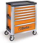 BETA 039000001 C39 O-MOBILE ROLLER CAB 7 DRAWERS ORANGE