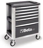 BETA 039000032 C39 G/6-MOBILE ROLLER CAB 6 DRAWERS GREY