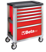 BETA 039000033 C39 R/6-MOBILE ROLLER CAB 6 DRAWERS RED