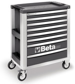 BETA 039000042 C39 G/8-MOBILE ROLLER CAB 8 DRAWERS GREY