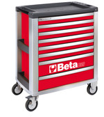 BETA 039000043 C39 R/8-MOBILE ROLLER CAB 8 DRAWERS RED
