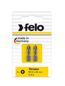 "FELO 62925 Torx T20 x 1"" Torsion Bit *NEW* - 2 per pkg"