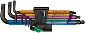 WERA 05022089001 950 SPKL/9 SM MULTICOLOUR LONG ARM HEX KEY SET