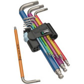 WERA 05022669001 3950 SPKL/9 SM Multicolour L-key set, metric, stainless
