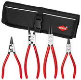 "Knipex 9K 00 19 53 US 4 Pc Circlip ""Snap-Ring"" Set In Pouch Straight"
