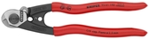 95 61 190 SBA Knipex 7.5 inch WIRE ROPE CUTTERS with 2 crimp dies, SBA on retail hang card