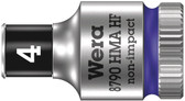 """WERA 05003717001 8790 HMA HF Zyklop socket with 1/4"""" drive with holding function , 4,0  mm"""