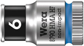 "WERA 05003721001 8790 HMA HF Zyklop socket with 1/4"" drive with holding function , 6,0  mm"