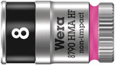 """WERA 05003723001 8790 HMA HF Zyklop socket with 1/4"""" drive with holding function , 8,0  mm"""
