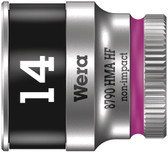 "WERA 05003729001 8790 HMA HF Zyklop socket with 1/4"" drive with holding function , 14,0  mm"