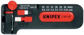 Knipex 12 80 100 SB 4'' Precision Mini Wire Stripper 18-28 AWG