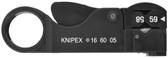 Knipex 16 60 05 SB 4 1/4'' Coax Wire Stripper