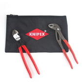 Knipex 9K 00 80 115 US 2 Pc Pliers Set With Keeper (87 01 250, 74 01 250, 9K 00 19 12 US)