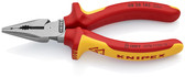 Knipex 08 28 145 US Needle-Nose Combination Pliers, 1000V Insulated