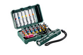 "Metabo BIT BOX ""SP"", 29 PIECE + MINI FLASH LIGHT"