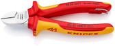 Knipex 70 06 160 VDE Diagonal Cutting Plier Premium Chrome w/ Tether