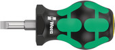 WERA 05008842001 Stubby Screwdriver for Slotted Screws 335 Stubby 1,0 x 5,5 x 79 mm