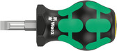WERA 05008843001 Stubby Screwdriver for Slotted Screws 335 Stubby 1,2 x 6,5 x 79 mm