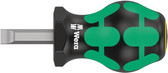 WERA 05008844001 Stubby Screwdriver for Slotted Screws 335 Stubby 1,2 x 8,0 x 79 mm