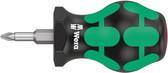WERA 05008850001 Stubby Screwdriver for Phillips Screws 350 Stubby PH 1 x 79 mm