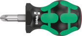 WERA 05008852001 Stubby Screwdriver for Phillips Screws 350 Stubby PH 3 x 79 mm