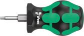 WERA 05008856001 Stubby Screwdriver for Torx Screws 367 Stubby TX 10 x 79 mm