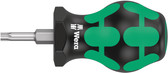 WERA 05008858001 Stubby Screwdriver for Torx Screws 367 Stubby TX 20 x 79 mm
