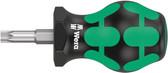 WERA 05008861001 Stubby Screwdriver for Torx Screws 367 Stubby TX 30 x 79 mm