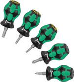 WERA 05008871001 Stubby Set, 5 pieces; PZ 1/ PZ 2 / Slotted 3,5/4/5,5 Stubby Set 2