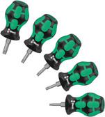 WERA 05008876001 Stubby Torx Set, 5 pieces; TX 10/15/20/25/30 Stubby Set TX 1