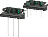 WERA 05023452001 T-Handle Torx driver with Holding Function; 7 piece set; TX 10/15/20/25 x 100mm; TX 30/40/45 x 200mm; with 2 plastic racks 467/7 HF Set 1