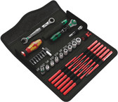 WERA 05135871001 Kraftform Kompact Maintenance W1 SAE Set, 35 Pieces